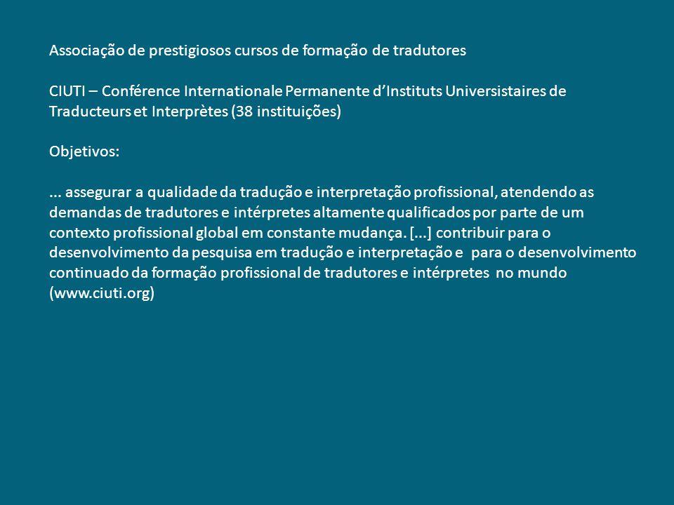 Associação de prestigiosos cursos de formação de tradutores