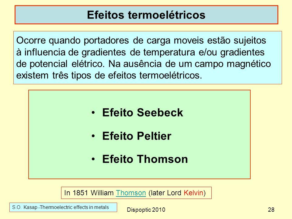 Efeitos termoelétricos