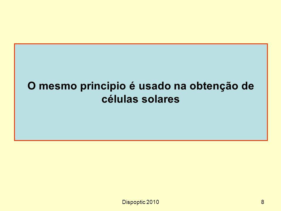 O mesmo principio é usado na obtenção de células solares