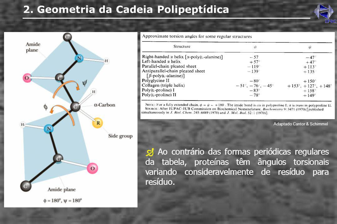 2. Geometria da Cadeia Polipeptídica