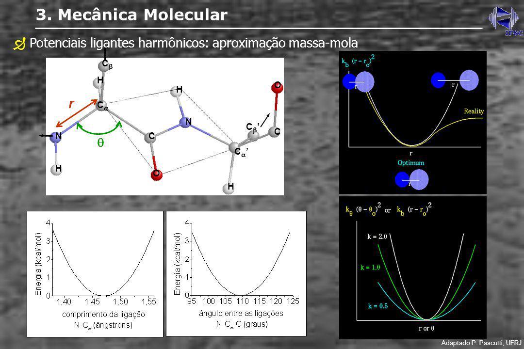  Potenciais ligantes harmônicos: aproximação massa-mola