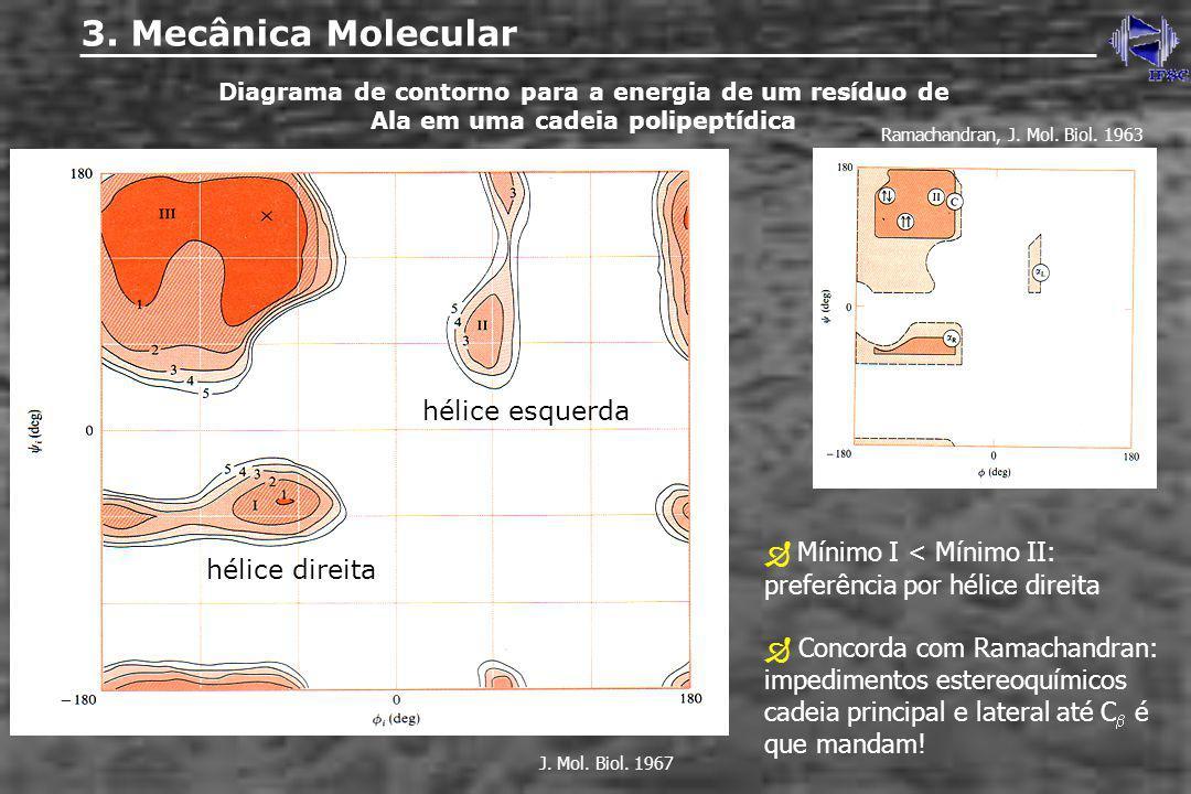 3. Mecânica Molecular hélice esquerda