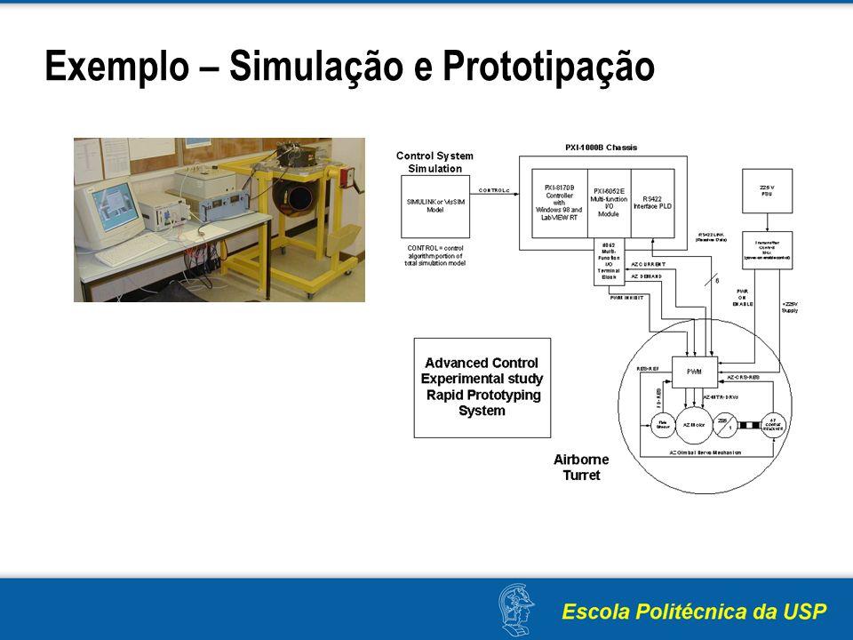 Exemplo – Simulação e Prototipação