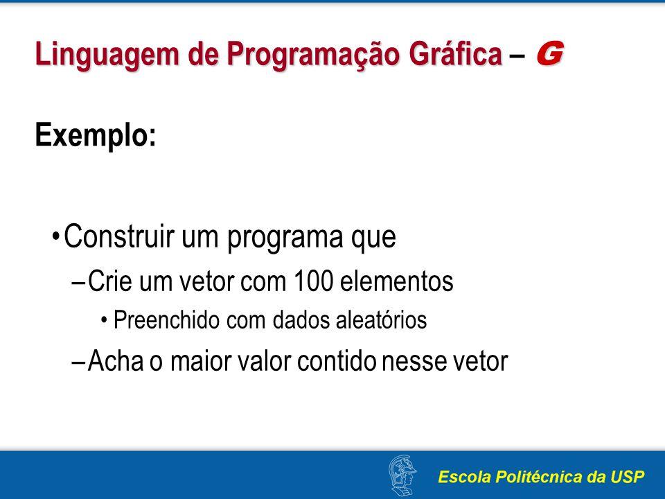 Linguagem de Programação Gráfica – G Exemplo: