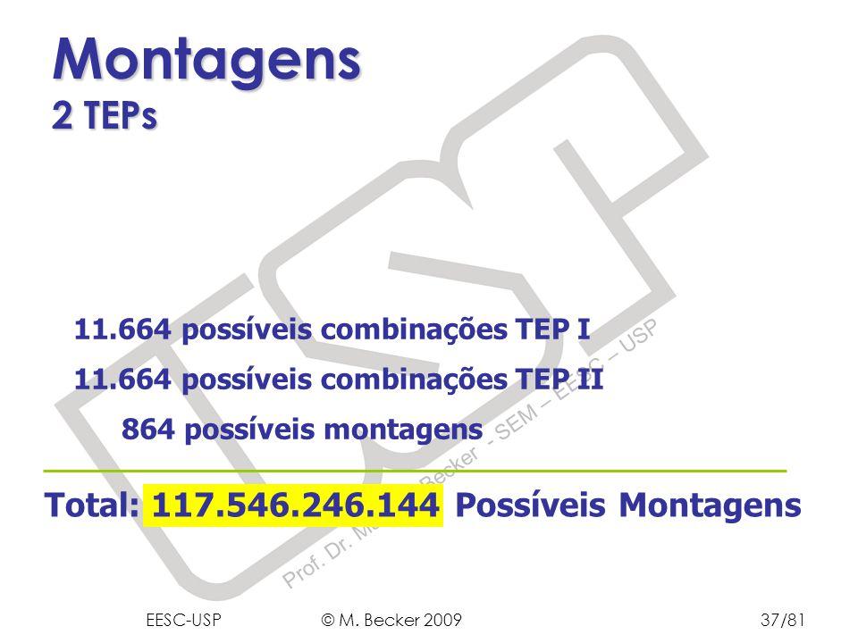 Montagens 2 TEPs Total: 117.546.246.144 Possíveis Montagens