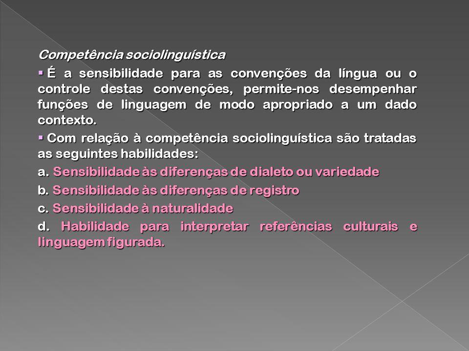 Competência sociolinguística
