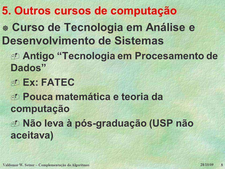 5. Outros cursos de computação