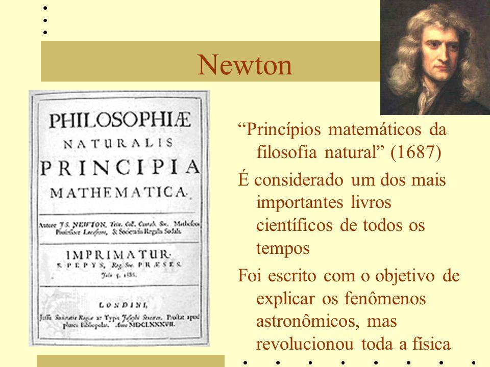 Newton Princípios matemáticos da filosofia natural (1687)