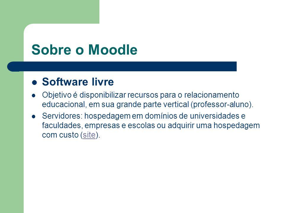 Sobre o Moodle Software livre