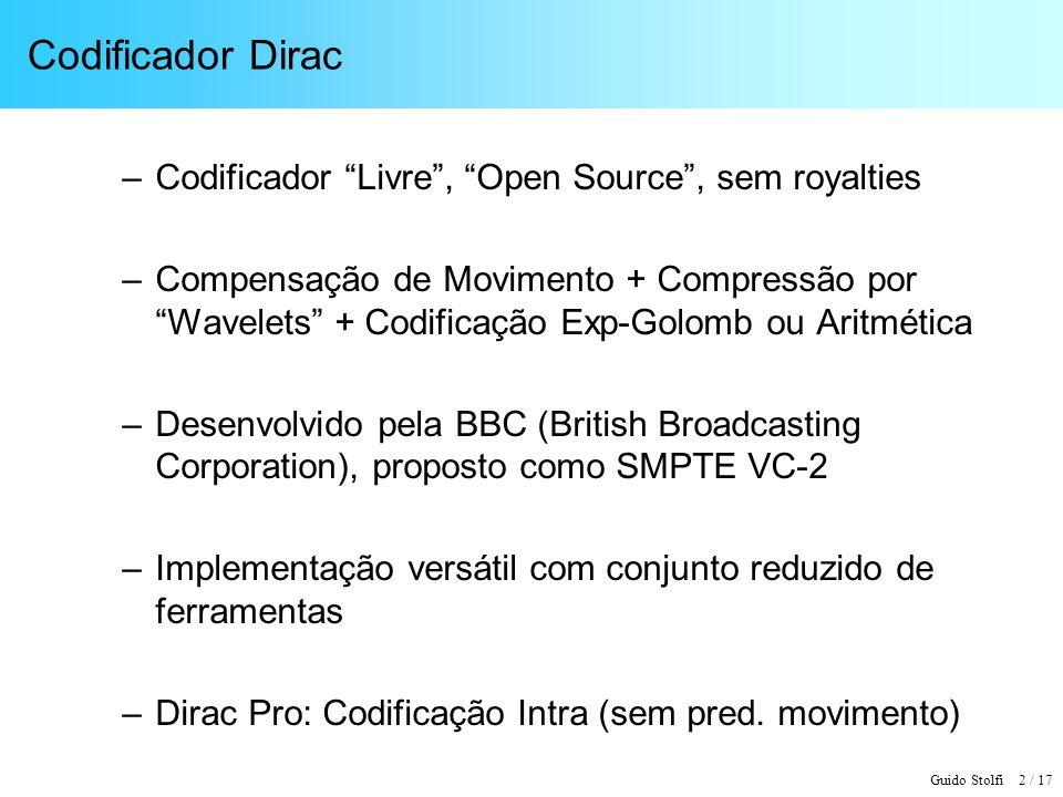 Codificador Dirac Codificador Livre , Open Source , sem royalties