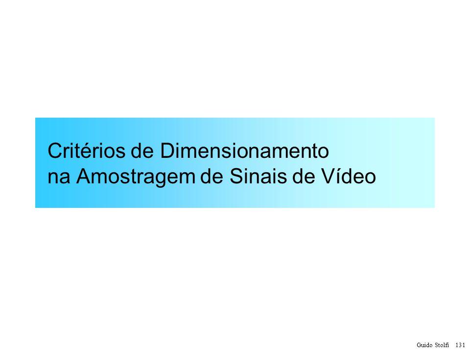 Critérios de Dimensionamento na Amostragem de Sinais de Vídeo