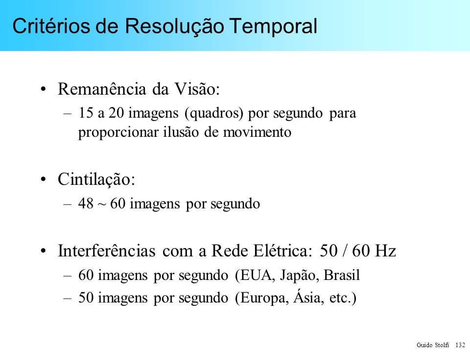 Critérios de Resolução Temporal