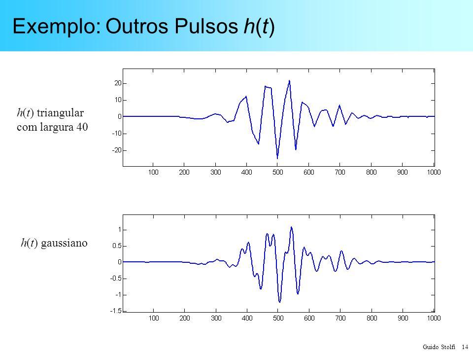 Exemplo: Outros Pulsos h(t)
