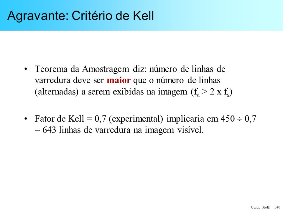 Agravante: Critério de Kell