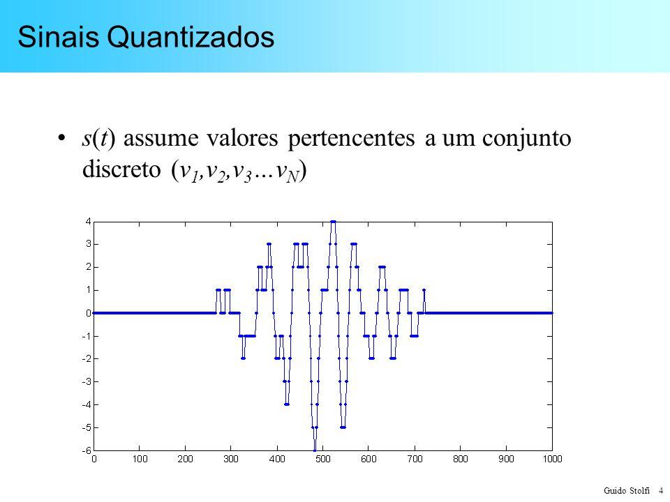 Sinais Quantizados s(t) assume valores pertencentes a um conjunto discreto (v1,v2,v3…vN)