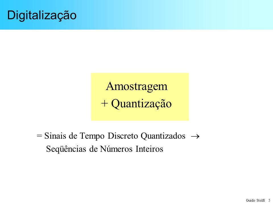 Digitalização Amostragem + Quantização