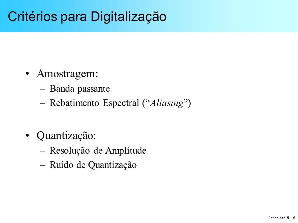 Critérios para Digitalização