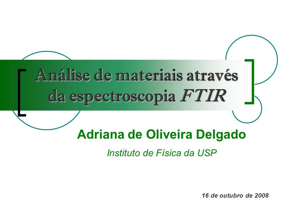 Análise de materiais através da espectroscopia FTIR
