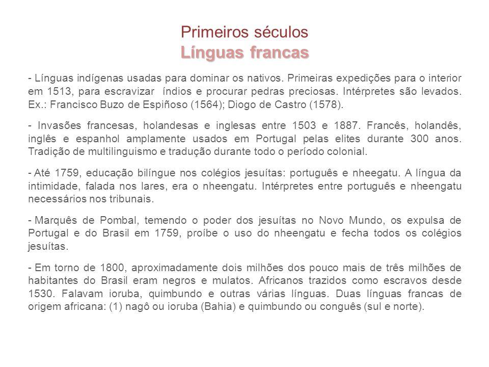 Línguas francas Primeiros séculos