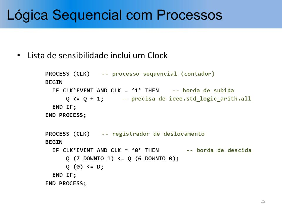 Lógica Sequencial com Processos