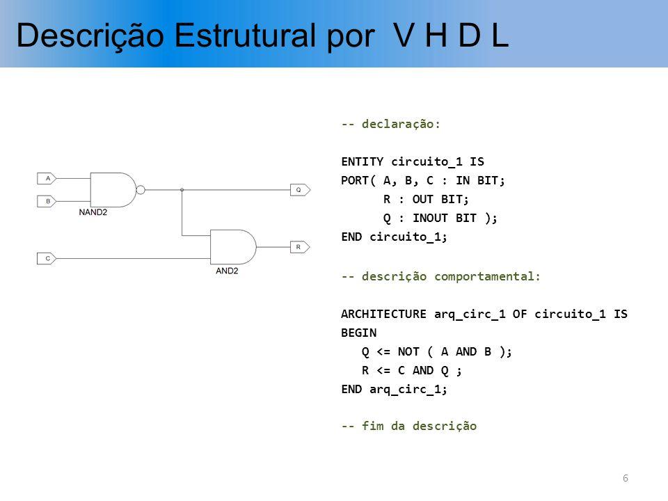 Descrição Estrutural por V H D L