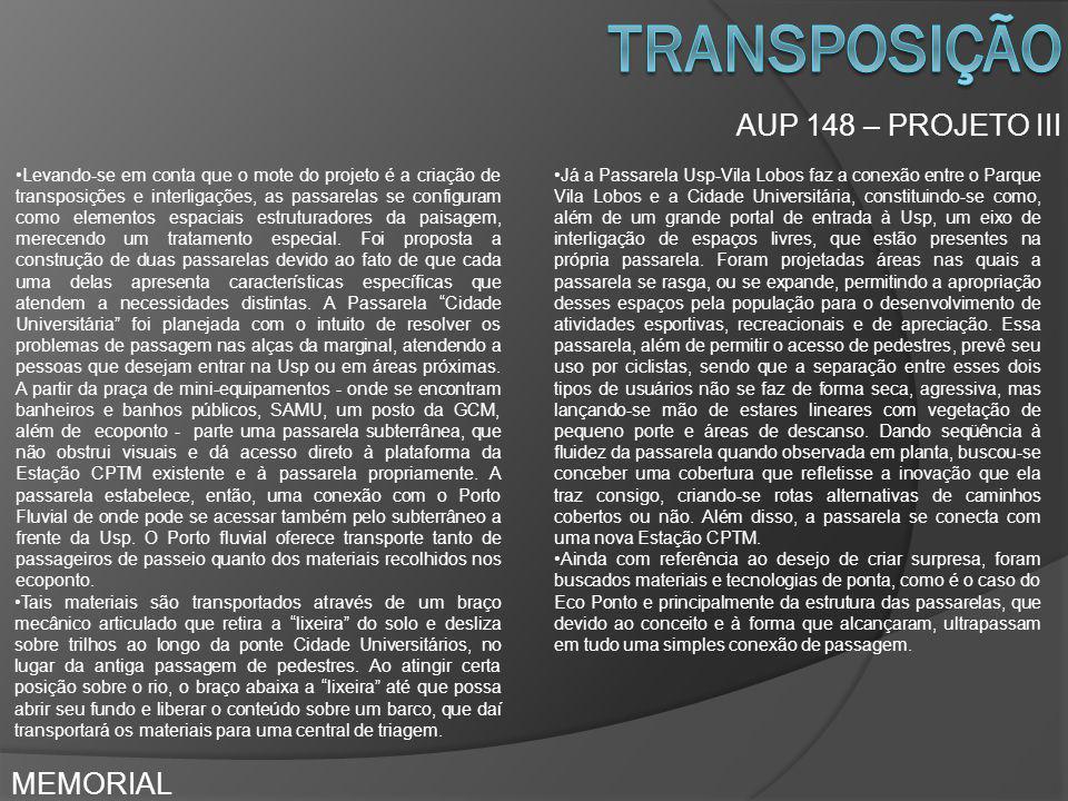 transposição AUP 148 – PROJETO III MEMORIAL
