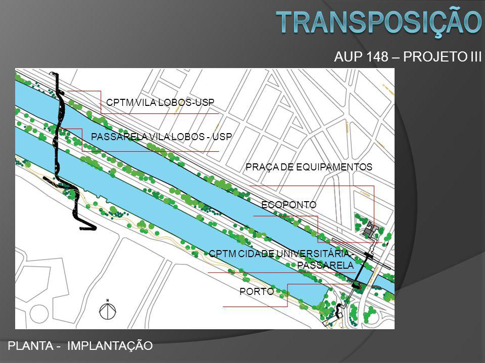 transposição AUP 148 – PROJETO III PLANTA - IMPLANTAÇÃO
