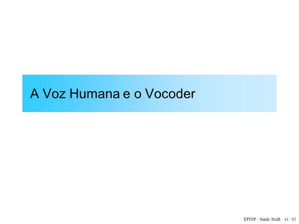 A Voz Humana e o Vocoder