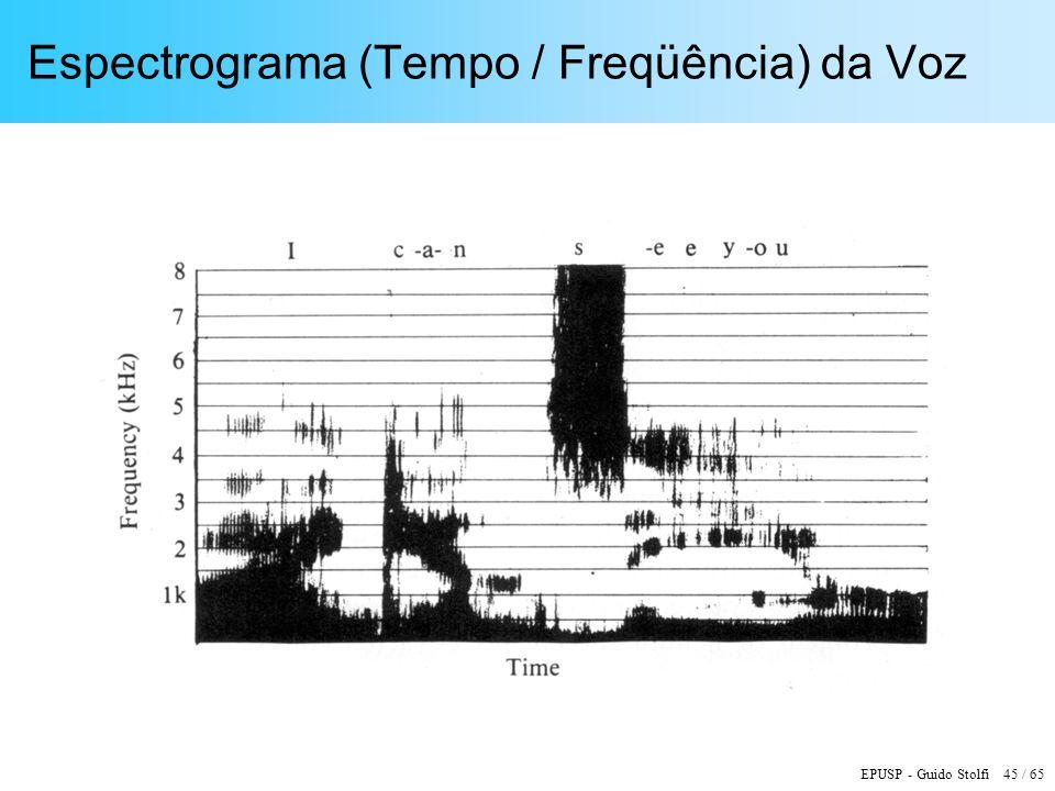 Espectrograma (Tempo / Freqüência) da Voz