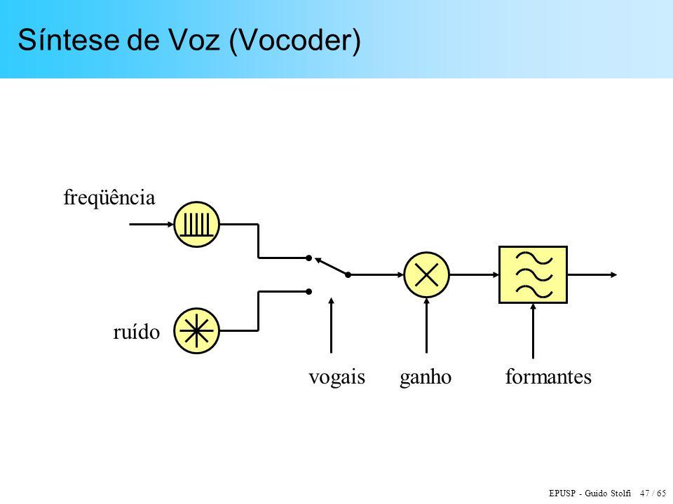 Síntese de Voz (Vocoder)