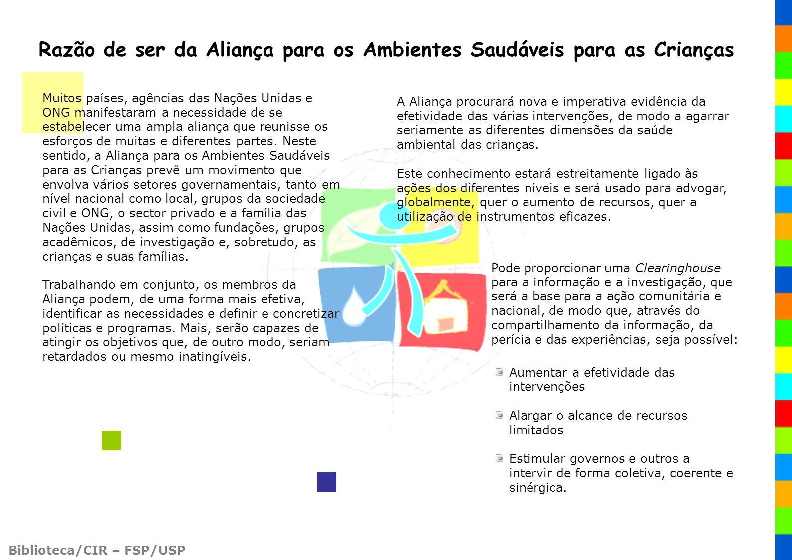 Razão de ser da Aliança para os Ambientes Saudáveis para as Crianças