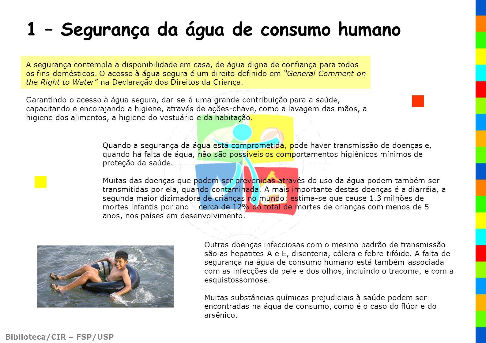 1 – Segurança da água de consumo humano