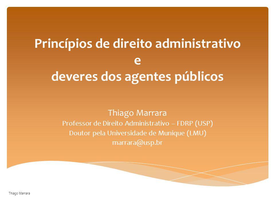 Princípios de direito administrativo e deveres dos agentes públicos