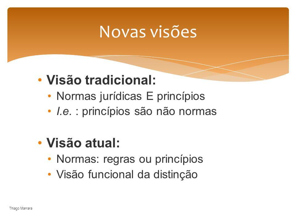 Novas visões Visão tradicional: Visão atual: