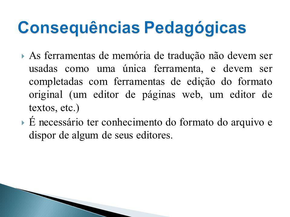Consequências Pedagógicas