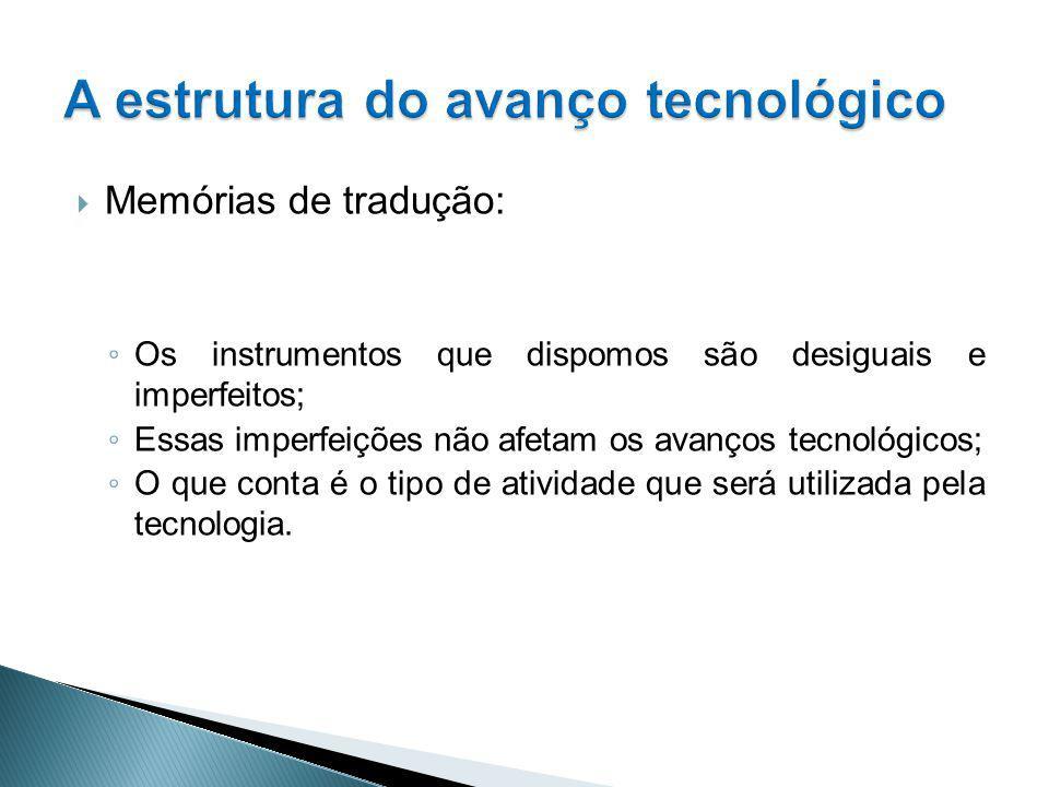 A estrutura do avanço tecnológico