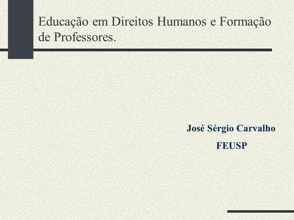 Educação em Direitos Humanos e Formação de Professores.