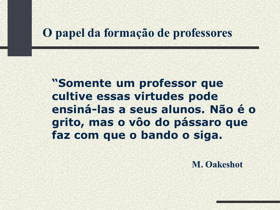 O papel da formação de professores