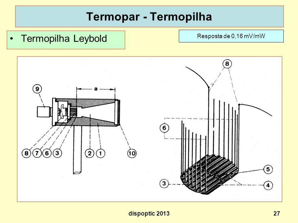 Termopar - Termopilha Termopilha Leybold Resposta de 0,16 mV/mW