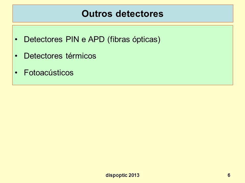Outros detectores Detectores PIN e APD (fibras ópticas)