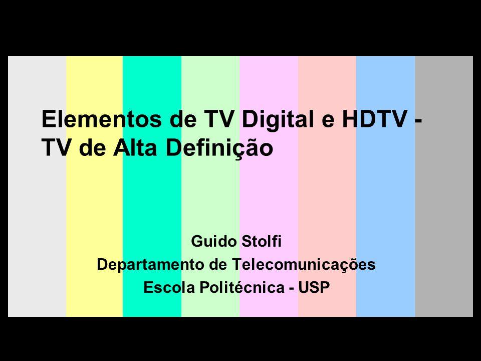 Elementos de TV Digital e HDTV -TV de Alta Definição
