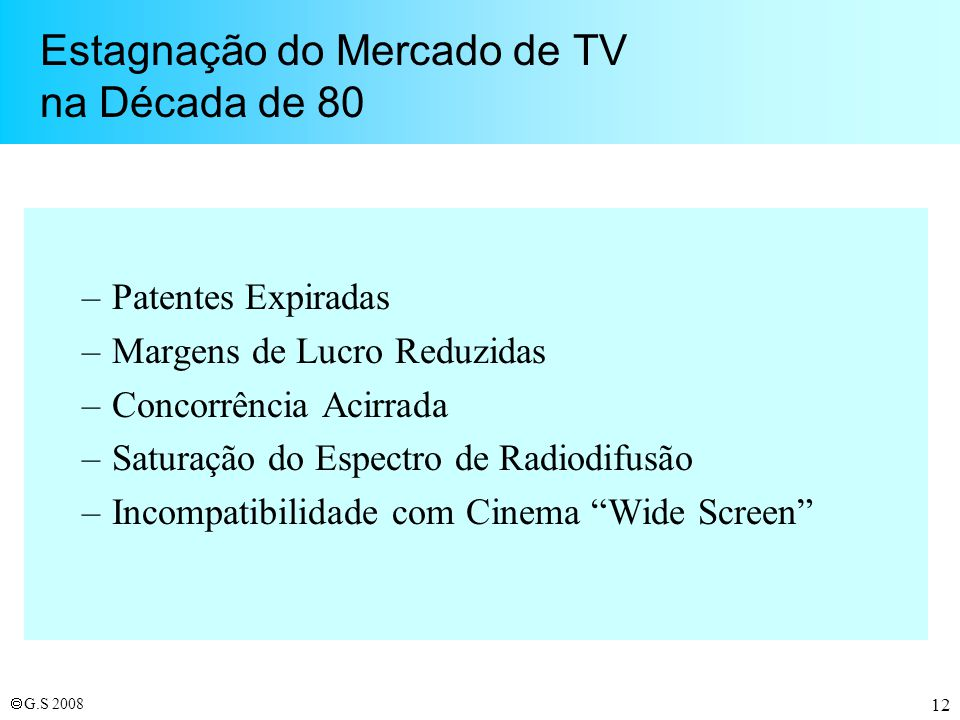 Estagnação do Mercado de TV na Década de 80