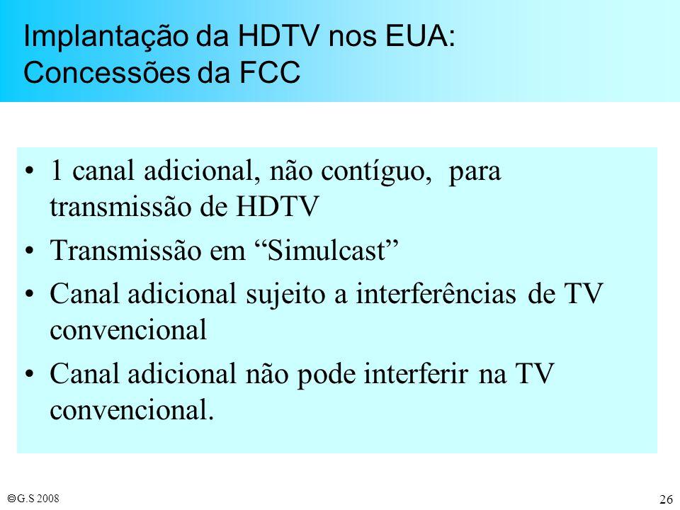 Implantação da HDTV nos EUA: Concessões da FCC