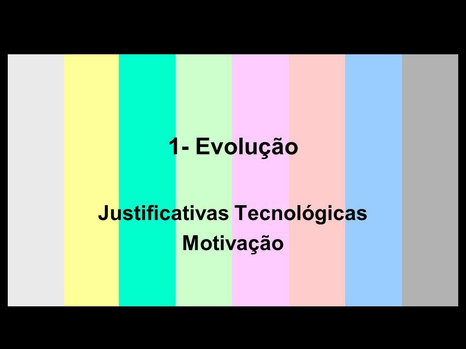 Justificativas Tecnológicas Motivação