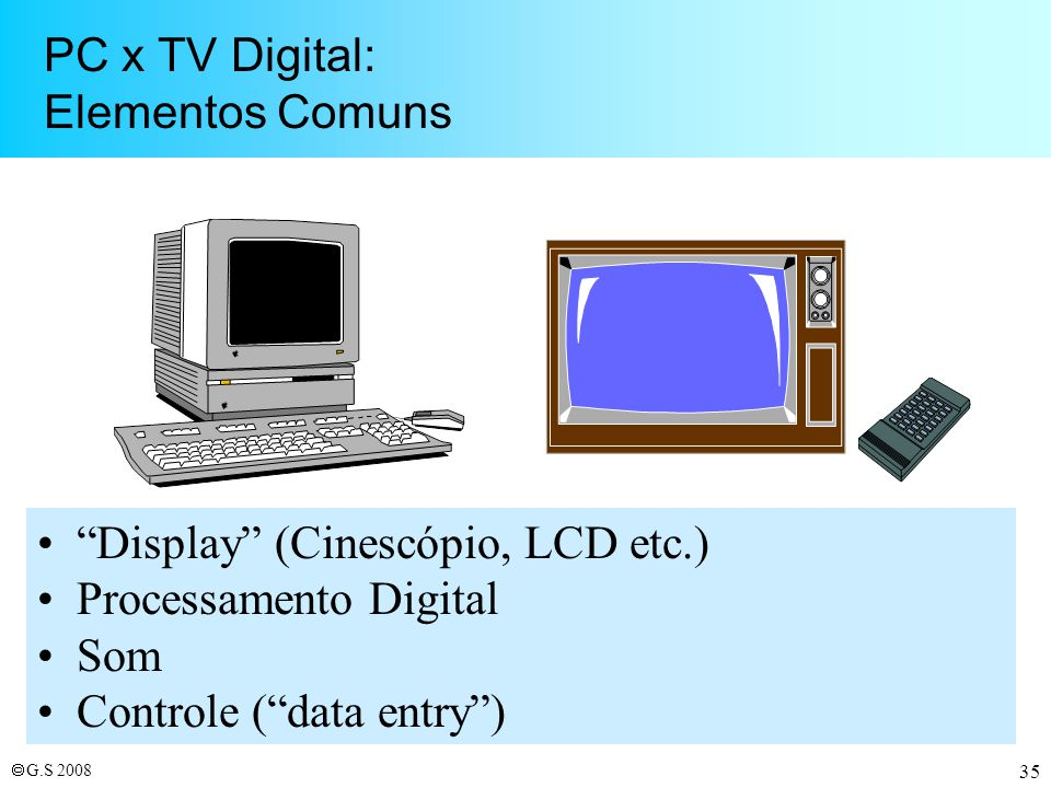 PC x TV Digital: Elementos Comuns