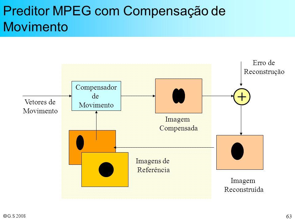 Preditor MPEG com Compensação de Movimento