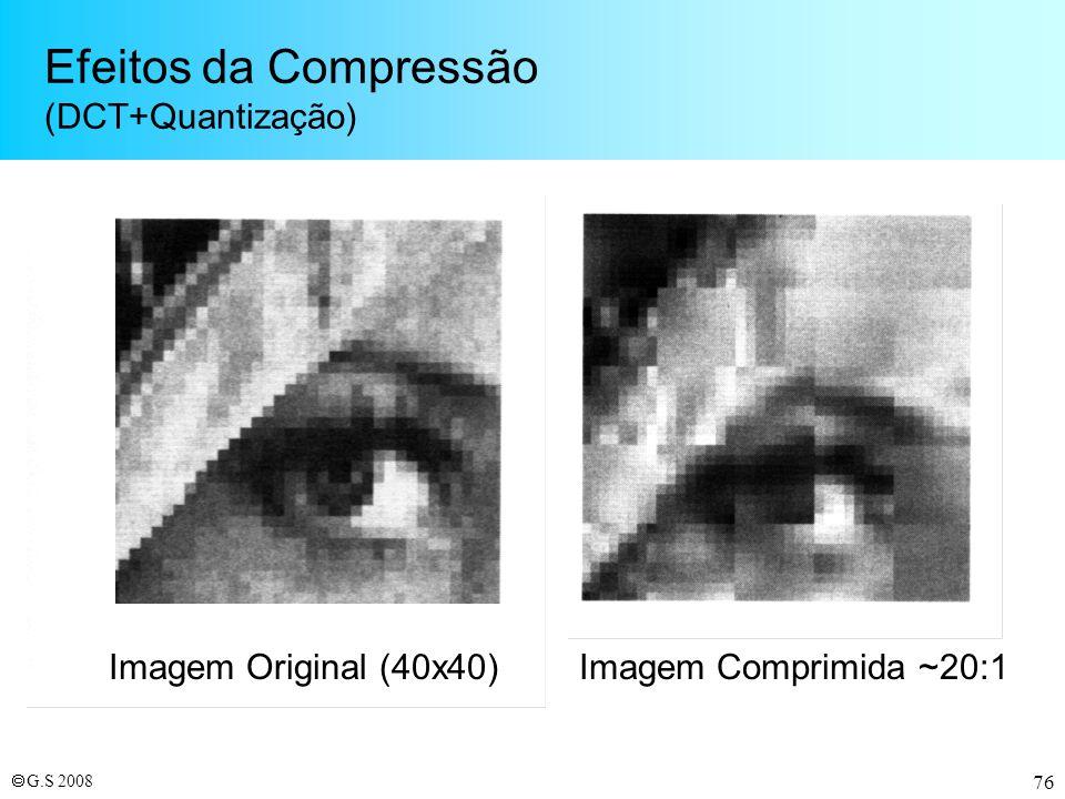 Efeitos da Compressão (DCT+Quantização)
