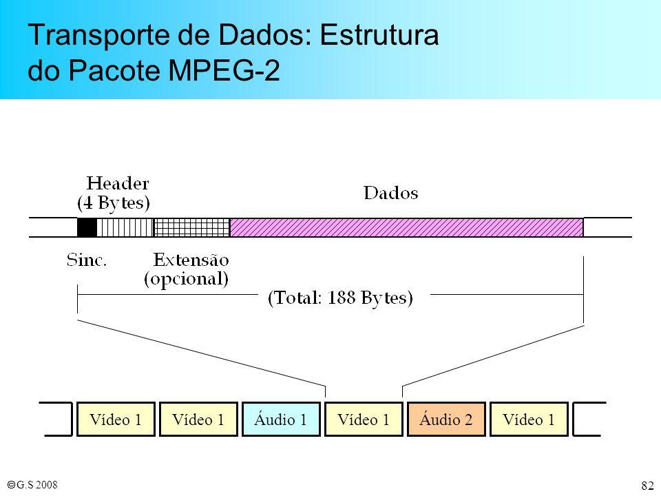 Transporte de Dados: Estrutura do Pacote MPEG-2