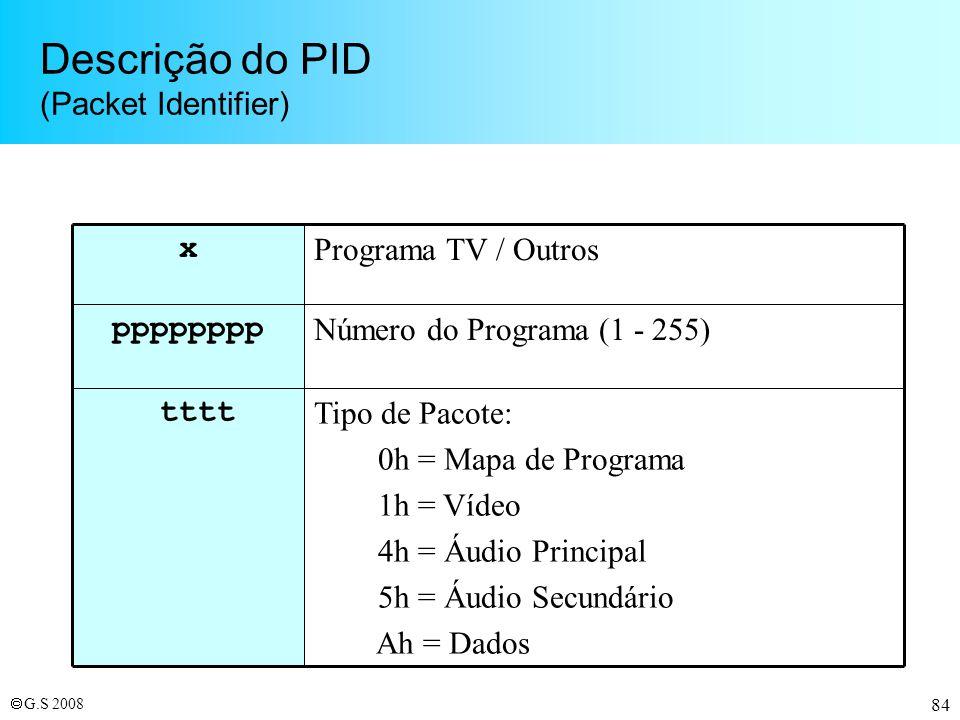 Descrição do PID (Packet Identifier)