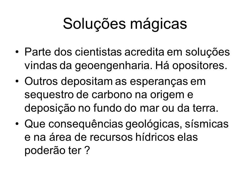 Soluções mágicas Parte dos cientistas acredita em soluções vindas da geoengenharia. Há opositores.